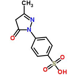 3-Methyl-1-(4-sulfophenyl)-2-pyrazolin-5-one CAS:89-36-1
