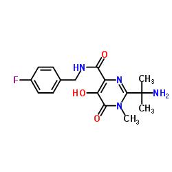 2-(2-aminopropan-2-yl)-N-[(4-fluorophenyl)methyl]-5-hydroxy-1-methyl-6-oxopyrimidine-4-carboxamide CAS:518048-03-8