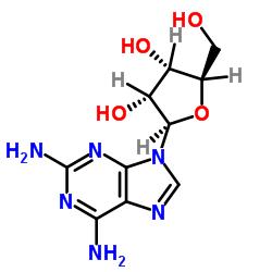 9H-Purine-2,6-diamine, 9-.β.-D-ribofuranosyl- CAS:2096-10-8