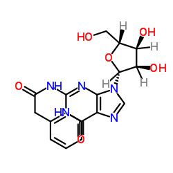 N- [9-[(2R, 3R, 4S, 5R) -3,4- 디 히드 록시 -5- (히드 록시 메틸) 옥 솔란 -2- 일] -6- 옥소 -3H- 푸린 -2- 일] -2- 페닐 아세트 아미드