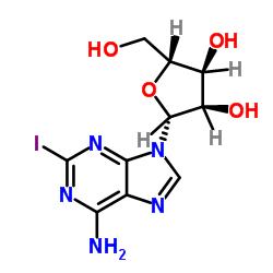 (2R,3R,4S,5R)-2-(6-amino-2-iodopurin-9-yl)-5-(hydroxymethyl)oxolane-3,4-diol CAS:35109-88-7