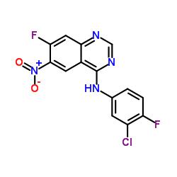 N-(3-Chloro-4-fluorophenyl)-7-fluoro-6-nitroquinazolin-4-amine CAS:162012-67-1