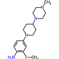 2-Methoxy-4-[4-(4-Methylpiperazin-1-yl)piperidin-1-yl]aniline CAS:761440-75-9