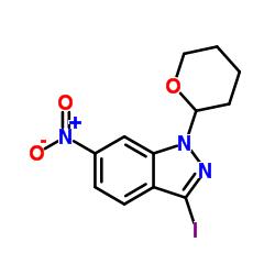 3-iodo-6-nitro-1-(oxan-2-yl)indazole CAS:886230-74-6