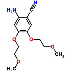 2-Amino-4,5-bis(2-methoxyethoxy)benzonitrile CAS:950596-58-4