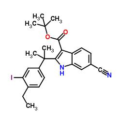 6- 시아 노 -2- [1- (4- 에틸 -3- 요오도 페닐) -1- 메틸 에틸] -1H- 인돌 -3- 카르 복실 산 1,1- 디메틸 에틸 에스테르