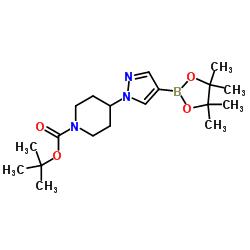 tert- 부틸 4- [4- (4,4,5,5- 테트라 메틸 -1,3,2- 디 옥사 보 롤란 -2- 일) -1H- 피라 졸 -1- 일] 피 페리 딘 -1- 카르 복실 레이트