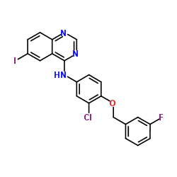 N-[3-Chloro-4-(3-fluorobenzyloxy)phenyl]-6-iodoquinazolin-4-amine