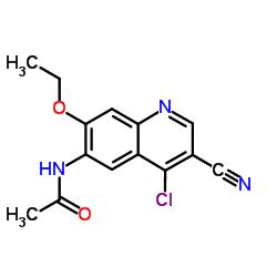 N-(4-Chloro-3-cyano-7-ethoxy-6-quinolinyl)acetamide CAS:848133-76-6