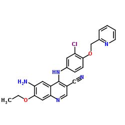 6- 아미노 -4- [3- 클로로 -4- (피리딘 -2- 일메 톡시) 아닐 리노] -7-에 톡시 퀴놀린 -3- 카르보니 트릴
