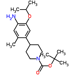 tert-butyl 4-(4-amino-5-isopropoxy-2-methylphenyl)piperidine-1-carboxylate CAS:1032903-63-1