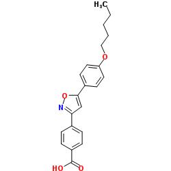 4- [5- (4- 펜틸 옥시 페닐) 이속 사졸 -3- 일] 벤조산