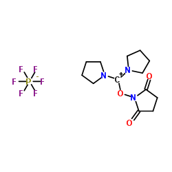 1-[pyrrolidin-1-ium-1-ylidene(pyrrolidin-1-yl)methoxy]pyrrolidine-2,5-dione,hexafluorophosphate CAS:207683-26-9