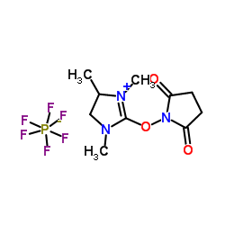 2-(2,5-dioxopyrrolidin-1-yloxy)-1,3-dimethyl-3,4,5,6-tetrahydropyrimidin-1-ium hexafluorophosphate CAS:443305-33-7