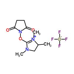 1-[(1,3,4-trimethyl-4,5-dihydroimidazol-1-ium-2-yl)oxy]pyrrolidine-2,5-dione,tetrafluoroborate CAS:443305-34-8