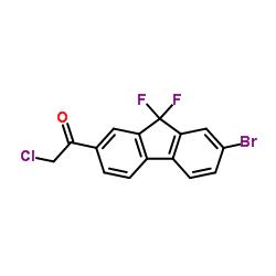 1-(7-broMo-9,9-difluoro-9H-fluoren-2-yl)-2-chloro-Ethanone CAS:1378387-81-5