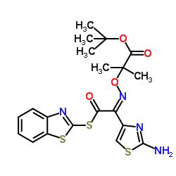 2-Mercaptobenzothiazolyl-(Z)-(2-aminothiazol-4-yl)-2-(tert-butoxycarbonyl) isopropoxyiminoacetate CAS:89604-92-2