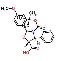 (4S,5R)-2-(4-methoxyphenyl)-3-[(2-methylpropan-2-yl)oxycarbonyl]-4-phenyl-1,3-oxazolidine-5-carboxylic acid CAS:196404-55-4