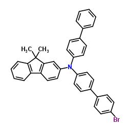 N-(biphenyl-4-yl)-N-(4'-broMobiphenyl-4-yl)-9,9-diMethyl-9H-fluoren-2-amine CAS:1268621-99-3