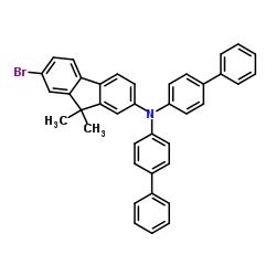 N,N-di([1,1'-biphenyl]-4-yl)-7-bromo-9,9-dimethyl-9H-fluoren-2-amine CAS:1028647-98-4
