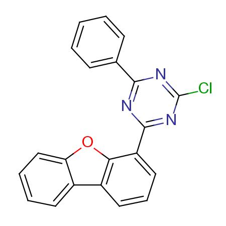 2- 클로로 -4- 디 벤조 푸란 -4- 일 -6- 페닐-[1,3,5] 트리 아진
