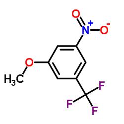 1-methoxy-3-nitro-5-(trifluoromethyl)benzene CAS:328-79-0