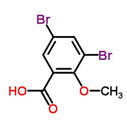 3,5-Dibromo-2-methoxybenzenecarboxylic acid CAS:13130-23-9
