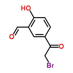 5-(2-Bromoacetyl)-2-hydroxybenzaldehyde CAS:115787-50-3