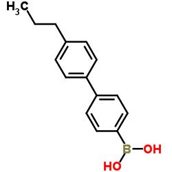[4-(4-propylphenyl)phenyl]boronic acid CAS:153035-56-4