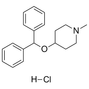 4-benzhydryloxy-1-methylpiperidine,hydrochloride CAS:132-18-3