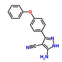 3-Amino-5-(4-phenoxyphenyl)-1H-pyrazole-4-carbonitrile CAS:330792-70-6