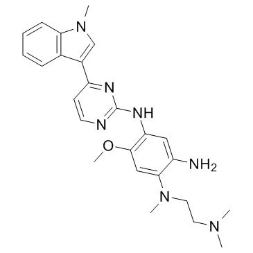 N1- (2- (디메틸 아미노) 에틸) -5- 메 톡시 -N1- 메틸 -N4- (4- (1- 메틸 -1H- 인돌 -3- 일) 피리 미딘 -2- 일) 벤젠 -1,2,4 트리 아민