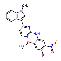 N-(4-Fluoro-2-methoxy-5-nitrophenyl)-4-(1-methyl-1H-indol-3-yl)-2-pyrimidinamine CAS:1421372-94-2