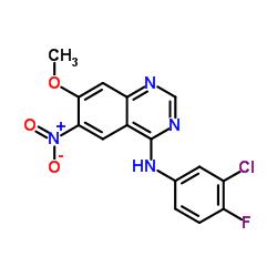 N-(3-chloro-4-fluorophenyl)-7-methoxy-6-nitroquinazolin-4-amine CAS:179552-74-0