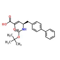 (R, E) -5-([1,1'- 비 페닐] -4- 일) -4-((tert- 부 톡시 카르 보닐) 아미노) -2- 메틸 펜트 -2- 엔산