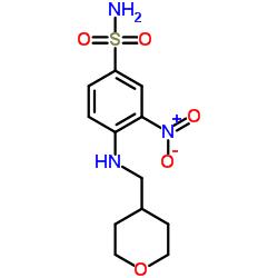 3-nitro-4-(((tetrahydro-2H-pyran-4-yl)methyl)amino)benzenesulfonamide