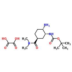 Oxalato de [(1R, 2S, 5S) -2-amino-5 - [(dimetilamino) carbonil] ciclo-hexil] carbamato de terc-butil
