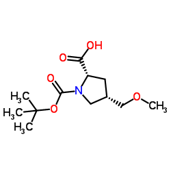 (2S,4S)-1-(tert-butoxycarbonyl)-4-(methoxymethyl)pyrrolidine-2-carboxylic acid CAS:1378388-16-9