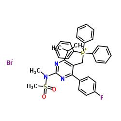 [4- (4- 플루오로 페닐) -2- [메틸 (메틸 설 포닐) 아미노] -6- 프로판 -2- 일 피리 미딘 -5- 일] 메틸-트리 페닐 포스 파늄, 브로마이드