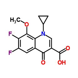 1-Cyclopropyl-6,7-difluoro-1,4-dihydro-8-methoxy-4-oxo-3-quinolinecarboxylic acid CAS:112811-72-0
