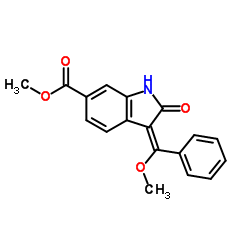 methyl (E)-3-(methoxy(phenyl)methylene)-2-oxoindoline-6-carboxylate CAS:1168150-46-6