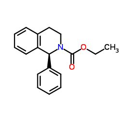 ethyl (1S)-1-phenyl-3,4-dihydro-1H-isoquinoline-2-carboxylate CAS:180468-42-2