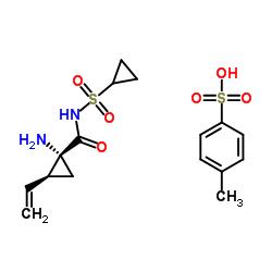 (1R,2S)-1-Amino-N-(cyclopropylsulfonyl)-2-ethenylcyclopropanecarboxamide 4-methylbenzenesulfonate CAS:1028252-16-5
