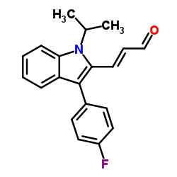 (E) -3- (3- (4- 플루오로 페닐) -1- 이소 프로필 -1H- 인돌 -2- 일) 아크릴 알데히드