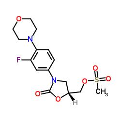 (R)-(3-(3-Fluoro-4-morpholinophenyl)-2-oxooxazolidin-5-yl)methyl methanesulfonate CAS:174649-09-3
