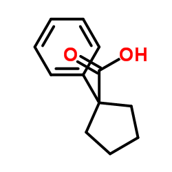 1-Phenylcyclopentanecarboxylic acid CAS:77-55-4