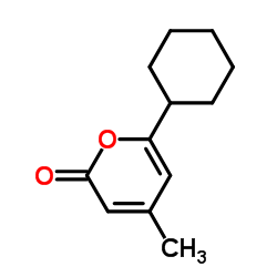 6-Cyclohexyl-4-methyl-2H-pyran-2-one CAS:14818-35-0