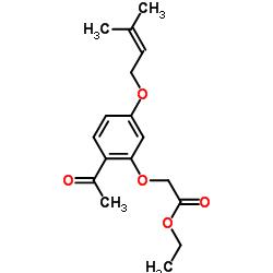 에틸 2- (2- 아세틸 -5-((3- 메틸 부트 -2- 엔 -1- 일) 옥시) 페녹시) 아세테이트