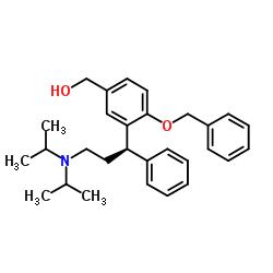 {4-(benzyloxy)-3-[(1R)-3-(dipropan-2-ylamino)-1-phenylpropyl]phenyl}methanol CAS:156755-37-2