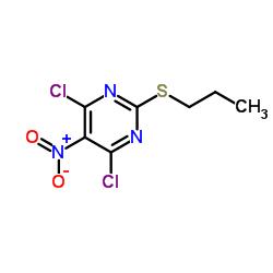 4,6-Dichloro-5-nitro-2-(propylthio)pyrimidine CAS:145783-14-8
